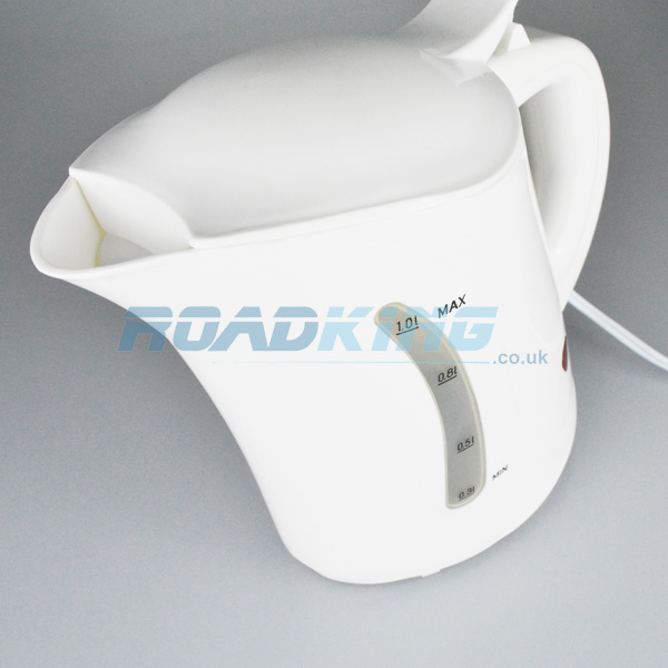 1 Litre Travel Kettle With Hella Plug White 24v